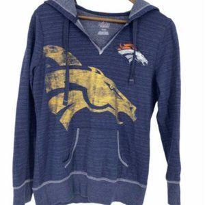 Majestic Nfl Denver Broncos V-Neck Pullover Hoodie